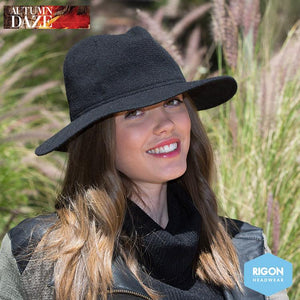 Suzi Lambswool Fedora hat by Rigon