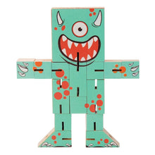 Load image into Gallery viewer, Transform It Wooden Puzzle Characters