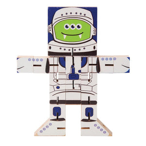 Transform It Wooden Puzzle Characters