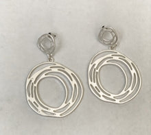 Load image into Gallery viewer, Vintage Matte Drop Earrings Silver by Dibora
