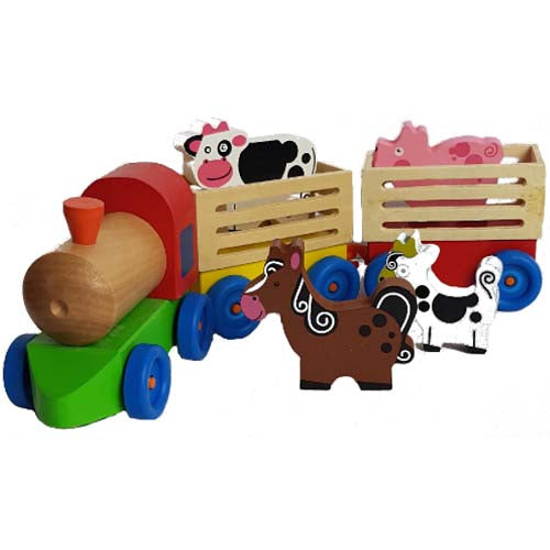 Wooden Farm Train