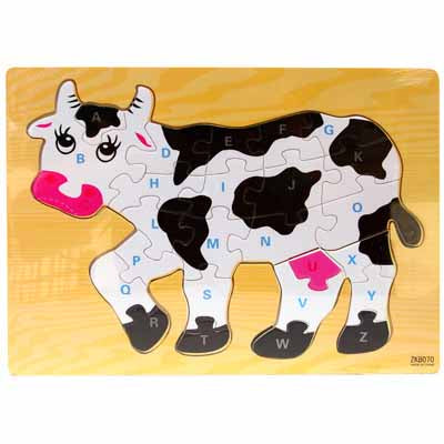 Wooden Cow Puzzle