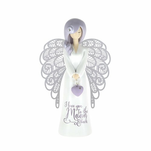You are an Angel Figurine - I Love you to the Moon & Back
