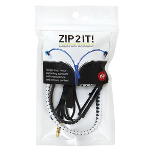 Zip 2 It - Zipper Earbuds With Microphone by IS GIFT