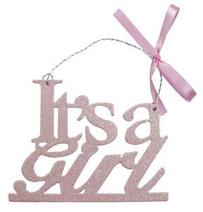 It's a Girl Glitter Sign