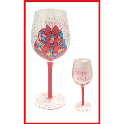 Happy Birthday Celebrations Wine Glass