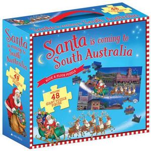 Santa is Coming to  Australia  Book & Floor Puzzle