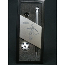 Load image into Gallery viewer, Soccer Keyring & Pen Boxed Set