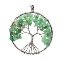 Load image into Gallery viewer, Tree Of Life Crystal Necklace