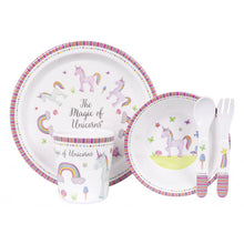 Load image into Gallery viewer, Ashdene Unicorn Magic 5 Piece Kids Dinner Set