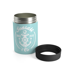 Can Holder - Anchor Badge Turquoise