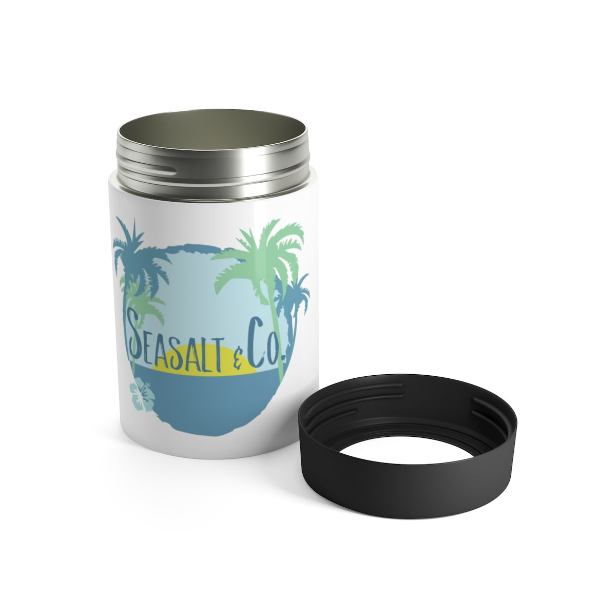 Can Holder - Hibiscus Sunset White
