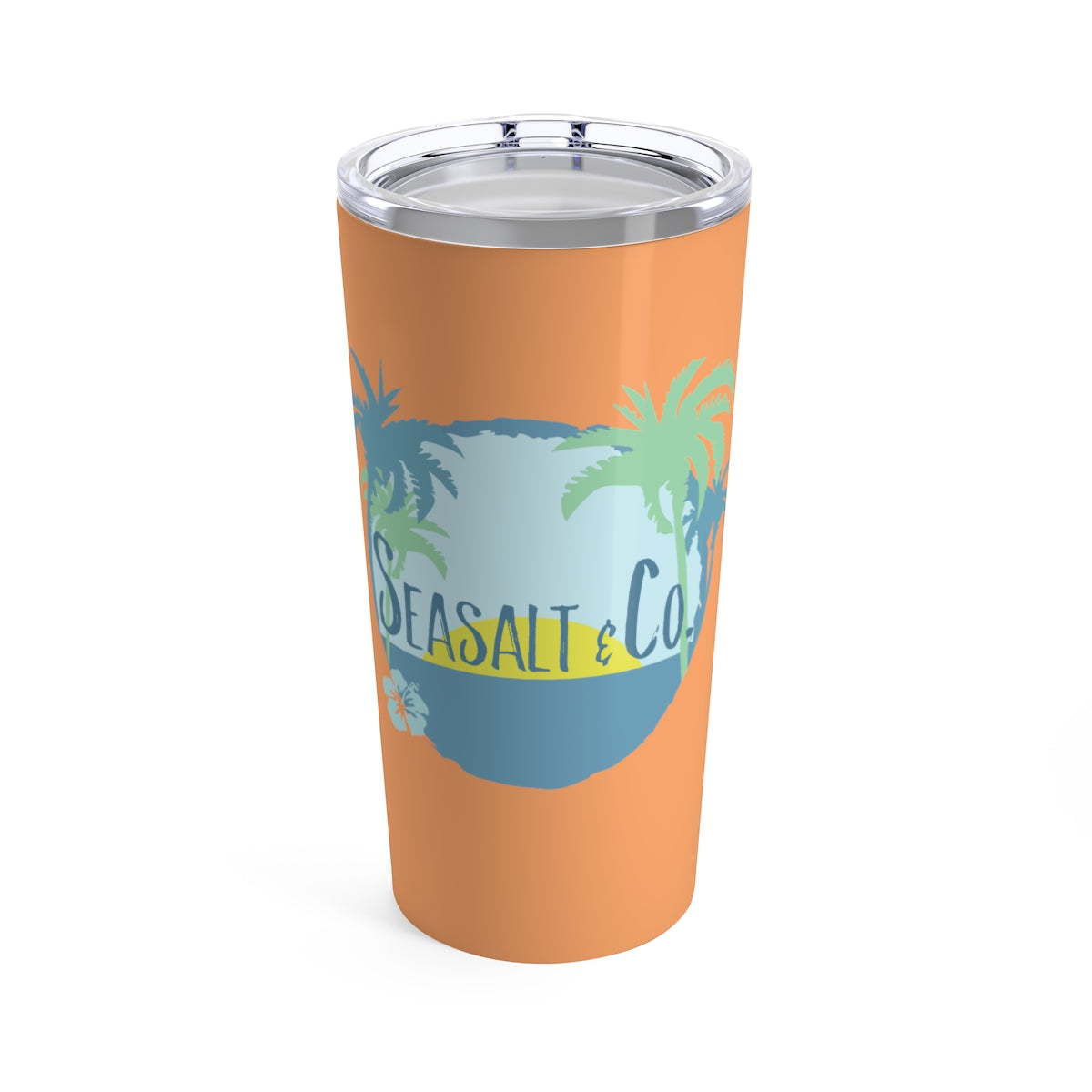 Tumbler 20oz - Hibiscus Sunset Orange