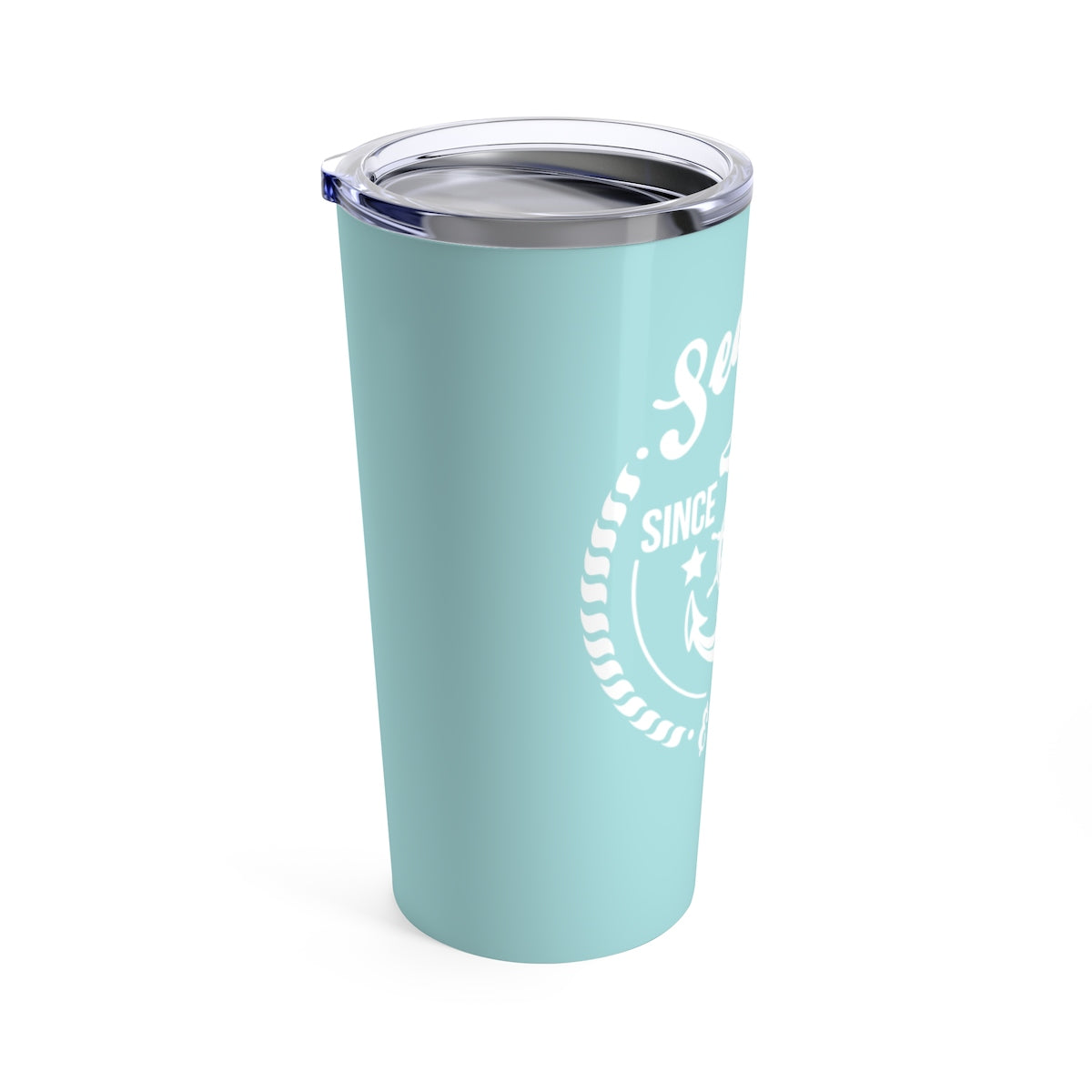 Tumbler 20oz - Anchor Badge Turquoise