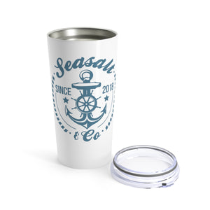 Tumbler 20oz - Anchor Badge Blue/White