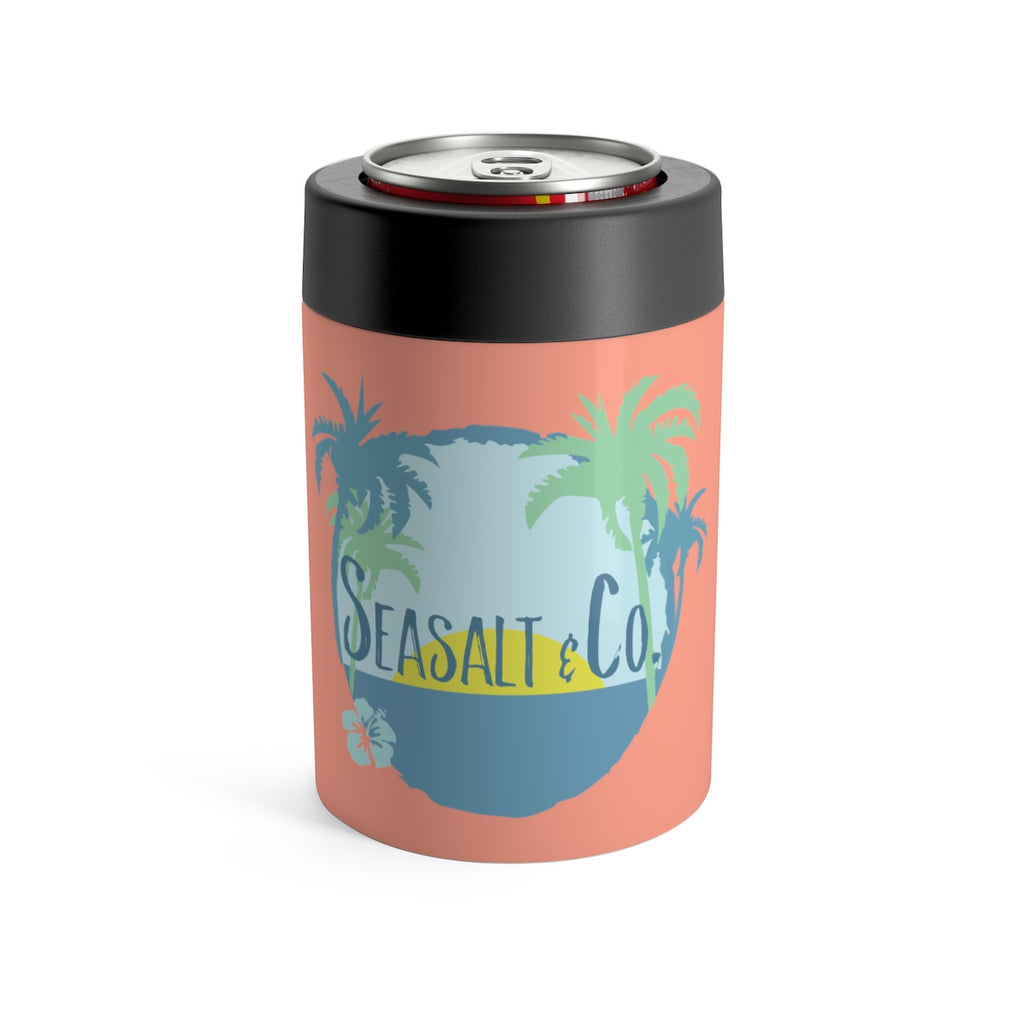Can Holder - Hibiscus Sunset Coral