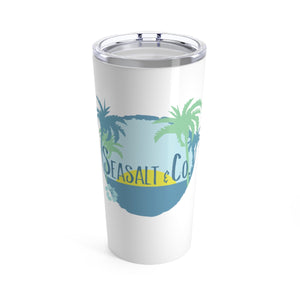 Tumbler 20oz - Hibiscus Sunset White
