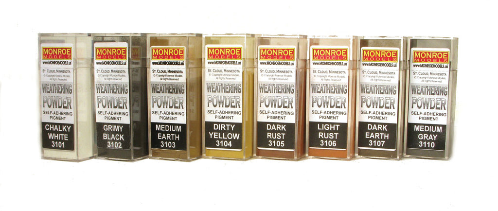 Monroe Models Colored Weathering Powder Assortment (8) Colors