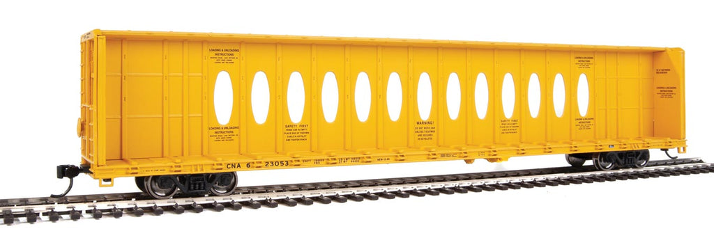 Walthers HO 72' Centerbeam Flatcar with Opera Windows Canadian National (CNA) #623053
