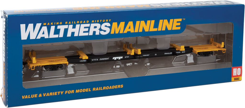Walthers HO 85' General American G85 Flatcar Trailer-Train VTTX #300597 910-5478
