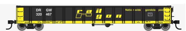 53' Railgon Gondola - Ready To Run -- Denver & Rio Grande Western(TM)
