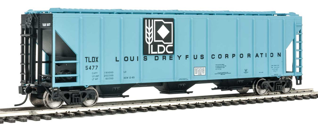 Walthers Mainline HO 54' PS2 Louis Dreyfus Corporation TLDX #5477 Low-Side Covered Hopper - Ready to Run