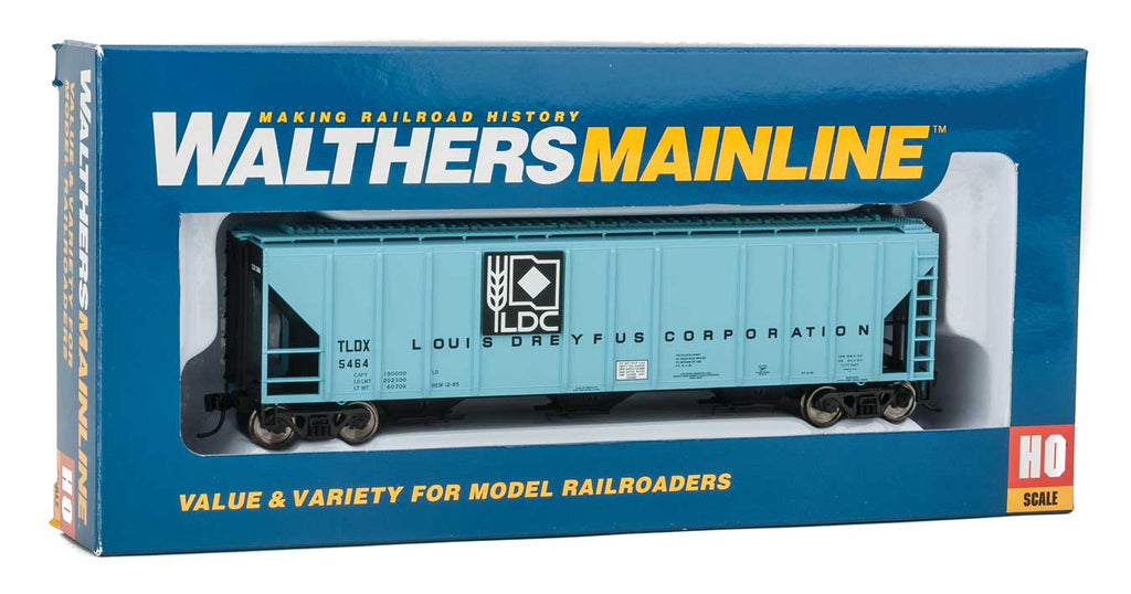 Walthers Mainline HO 54' PS2 Louis Dreyfus Corporation TLDX #5464 Low-Side Covered Hopper - Ready to Run