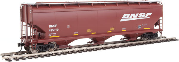 Walthers Mainline HO 910-7608 60' NSC 5150 3-Bay Covered Hopper, Burlington Northern Santa Fe #495310