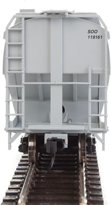 Walthers Mainline HO 910-7609 60' NSC 5150 3-Bay Covered Hopper, Canadan Pacific (Soo) #119161