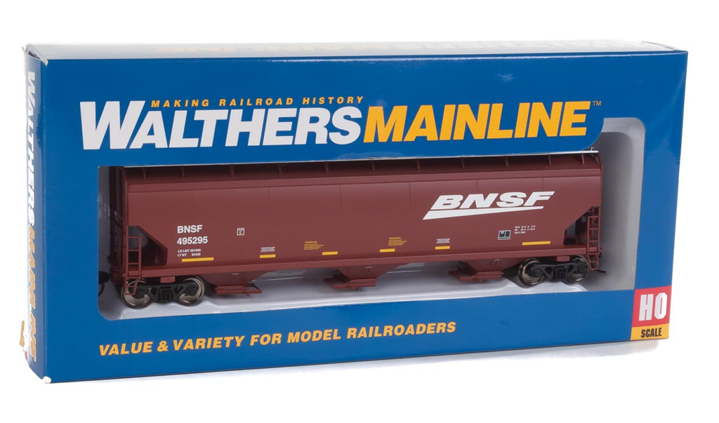 Walthers Mainline HO 60' NSC 5150 3-Bay Covered Hopper BNSF Railway 495295