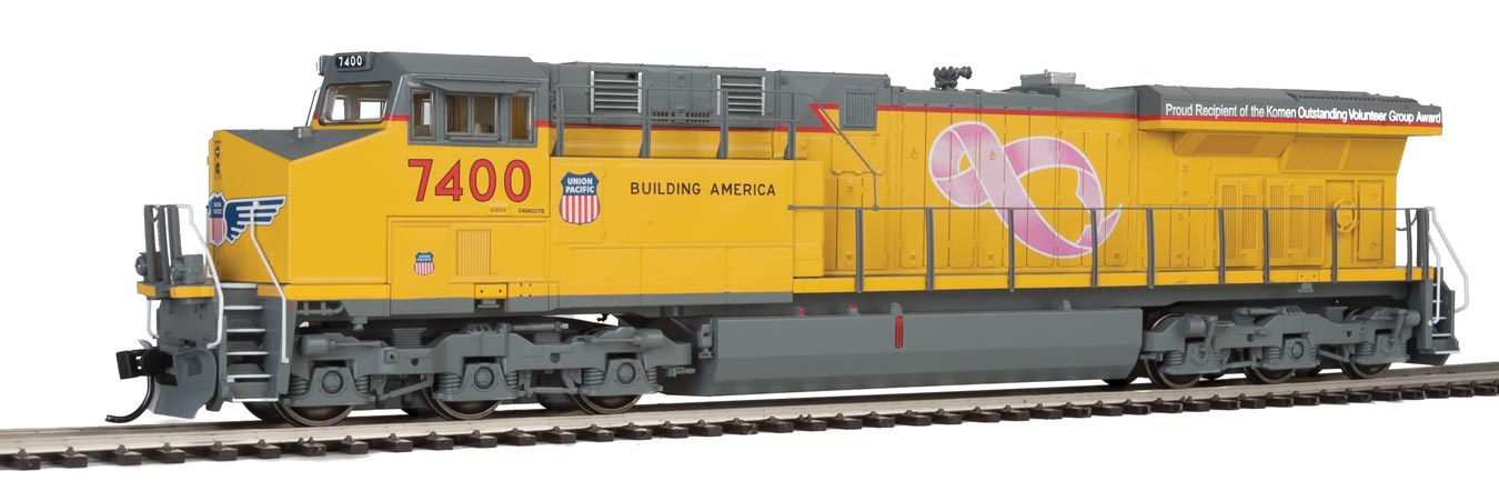 Walthers HO ES44 Gevo Union Pacific #7400 Breast Cancer Awareness-DCC Ready