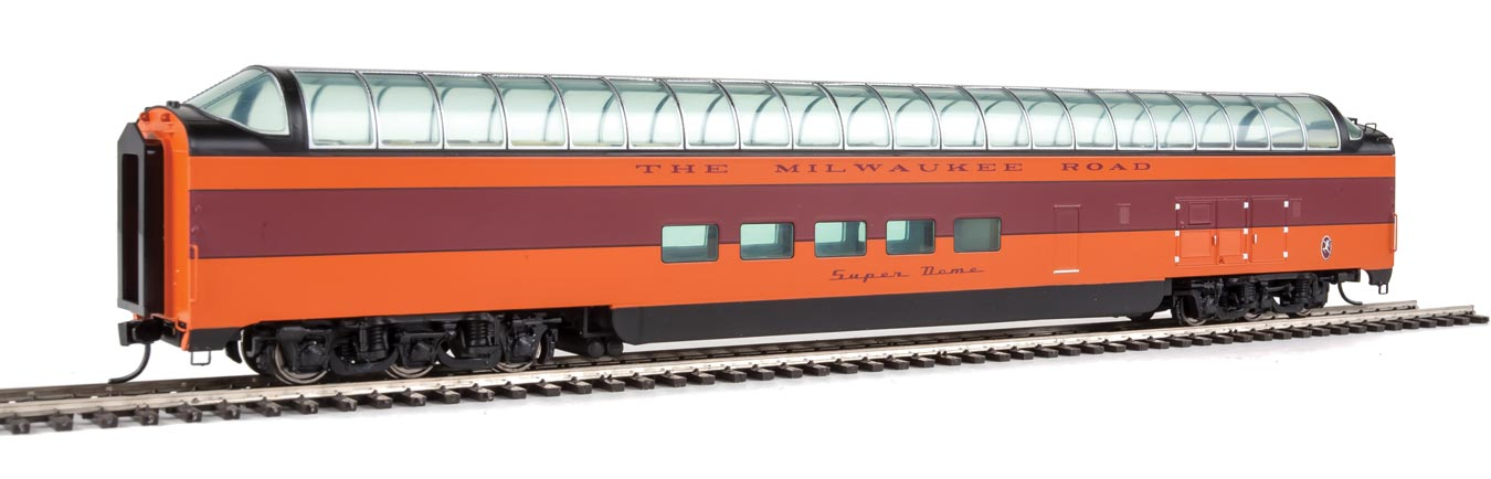 Walthers Proto Milwaukee Road 85' Pullman-Standard Super Dome