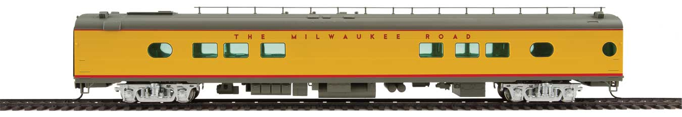 Walthers Proto 85' Milwaukee Road 26-Seat Tap Lounge Twin Cities Hiawatha