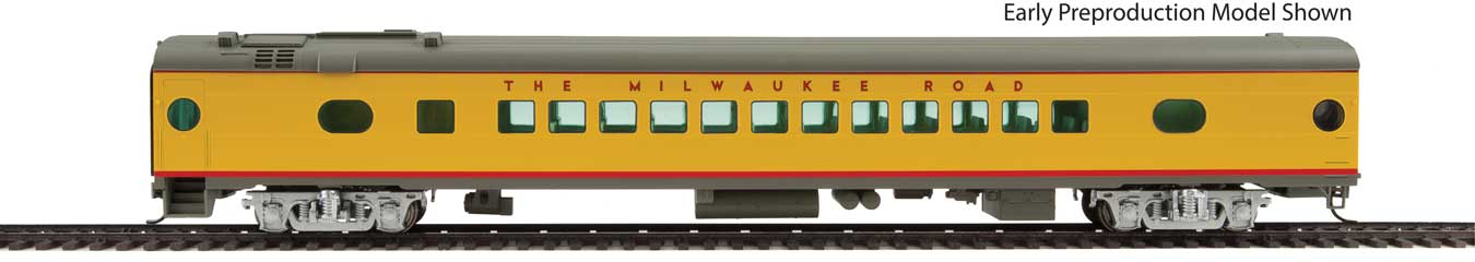 Walthers Proto 85' Milwaukee Road 52-Seat Coach 498 Series Twin Cities Hiawatha #500