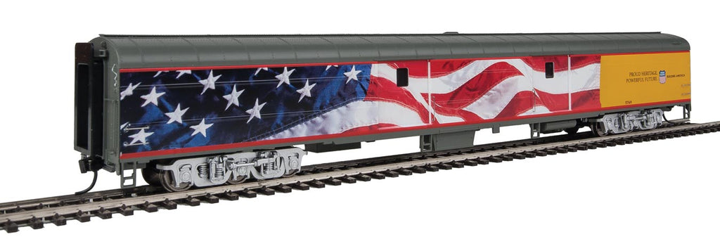 Walthers Proto 85' ACF Flag Baggage Car Union Pacific(R) Heritage Fleet 920-9205