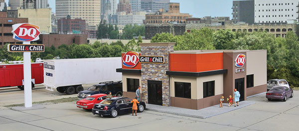 HO Walthers Cornerstone DQ Grill & Chill