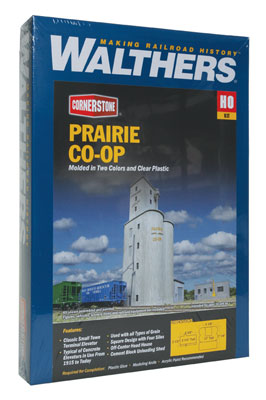 HO Walthers Cornerstone Prairie Co-Op Elevator Walthers Cornerstone