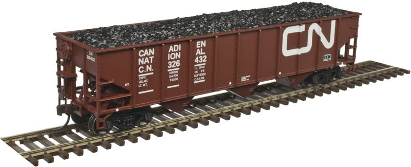 ATLAS HO AAR 70 TON 9 PANEL HOPPER, Canadian National 326209