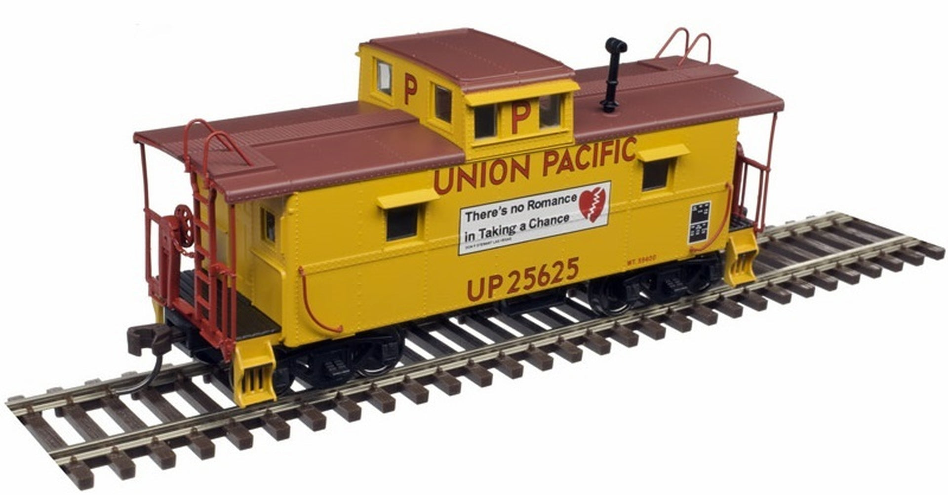 Atlas HO 20004975 C&O Style Cupola Caboose, Union Pacific #25625