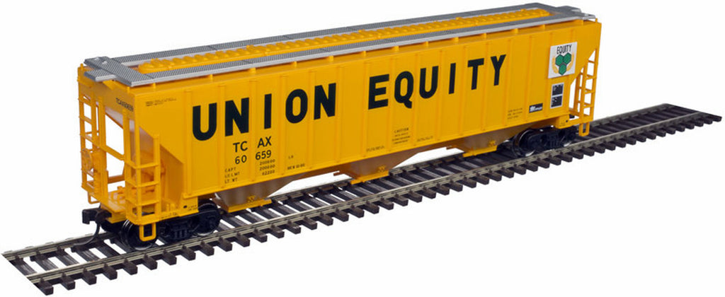 Atlas Trainman HO Thrall 4750 Covered Hopper, Union Equity (TCAX) #60659