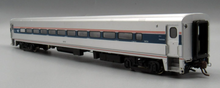 "Load image into Gallery viewer, Rapido HO Horizon Fleet Coach Amtrak ""Un-Numbered"" (Phase VI, silver, blue, red, Travelscape Logo)"