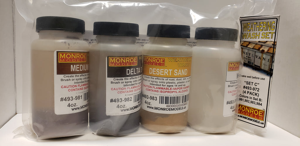 "Monroe Models Weathering Wash - Set ""C"" 4 Pack"