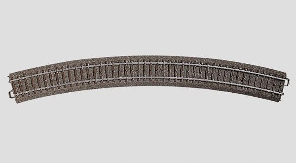 "Marklin 3-Rail C Track -- R5 Curved, 25-5/16""  64.4cm Radius, 30 Degrees"