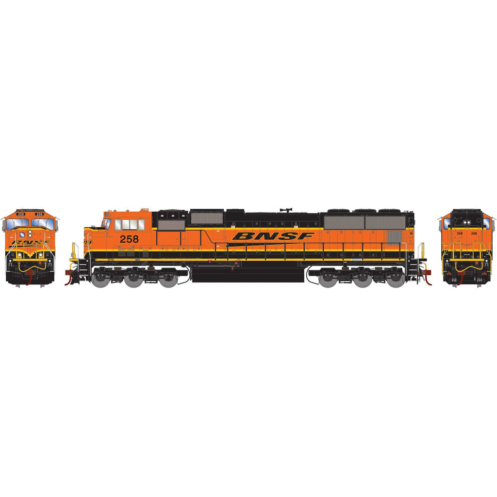 Athearn Genesis HO SD75M, BNSF/Late Heritage #258