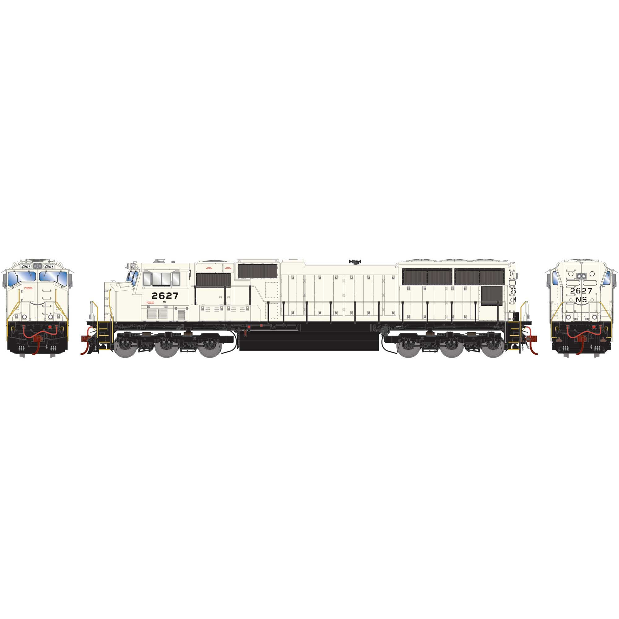 Athearn Genesis HO SD70M with DCC & Sound NS Flare Grey Ghost #2627