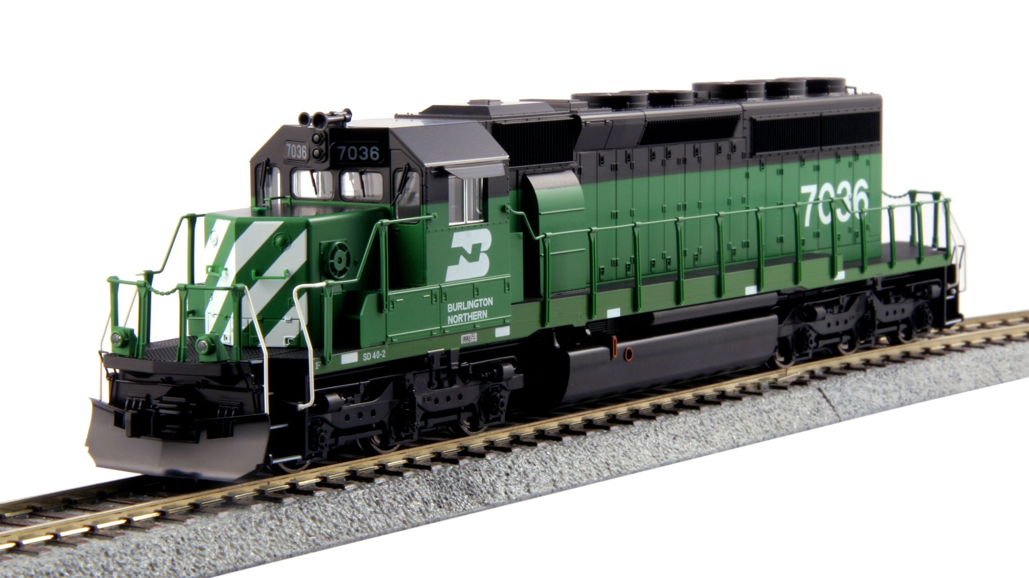 Kato HO EMD SD40-2 Mid Burlington Northern BN #7036 DCC Ready