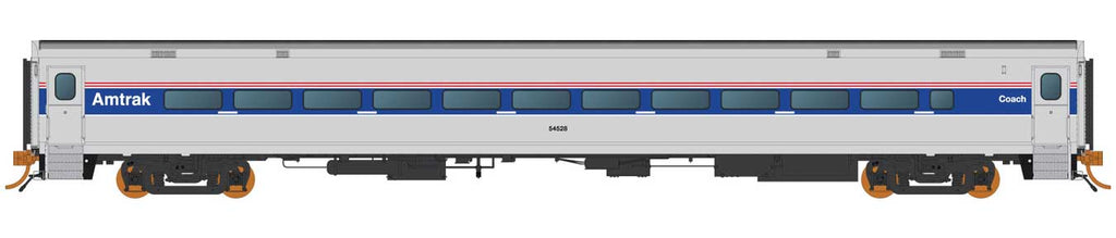 Rapido HO Horizon Fleet Coach Amtrak 54528 (Phase IV, silver, blue, red)