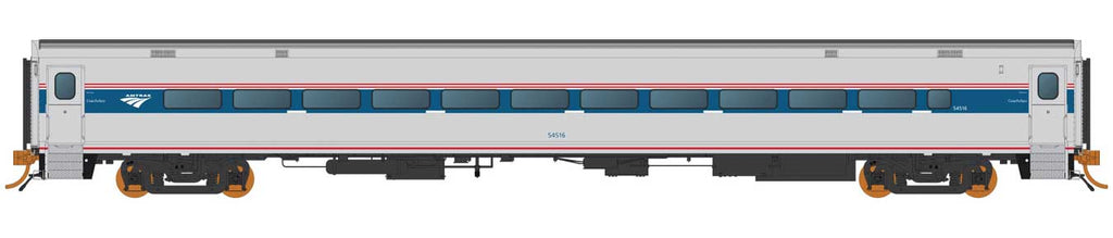 Rapido HO Horizon Fleet Coach Amtrak 54550 (Phase VI, silver, blue, red, Travelscape Logo)