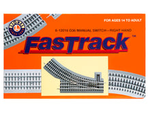 Load image into Gallery viewer, Lionel  6-12018 FASTRACK O36 MANUAL SWITCH - RIGHT HAND