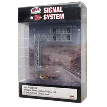 Load image into Gallery viewer, Atlas HO SCALE SIGNAL MODERN CANTILEVER BRIDGE 2 TRACK, 4 HEAD LH
